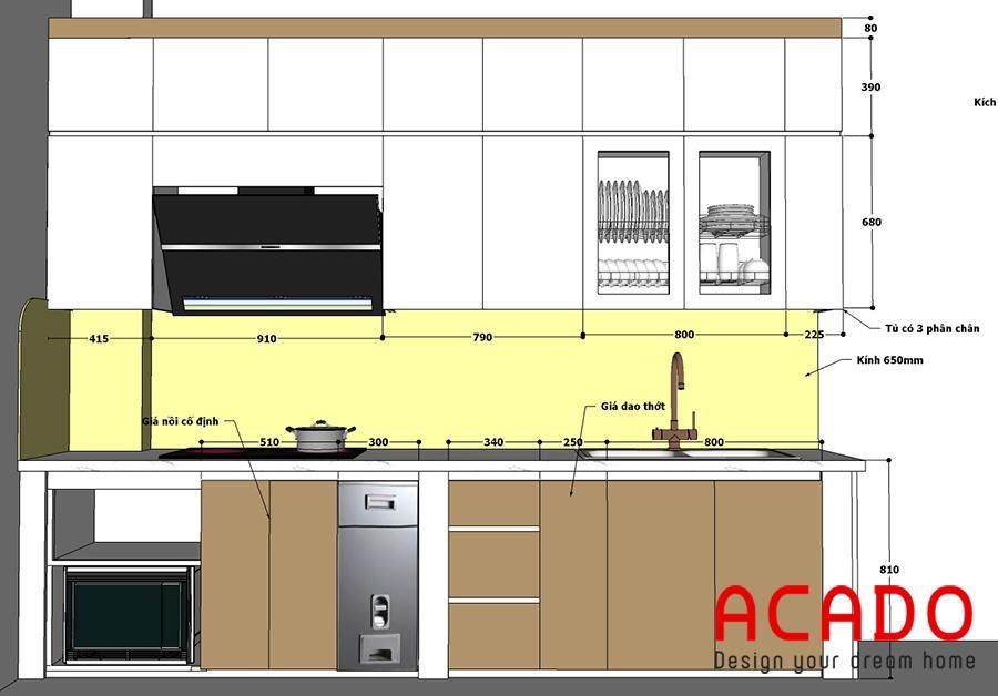 Bản thiết kế Acado đưa ra sau khi khảo sát gian phòng.