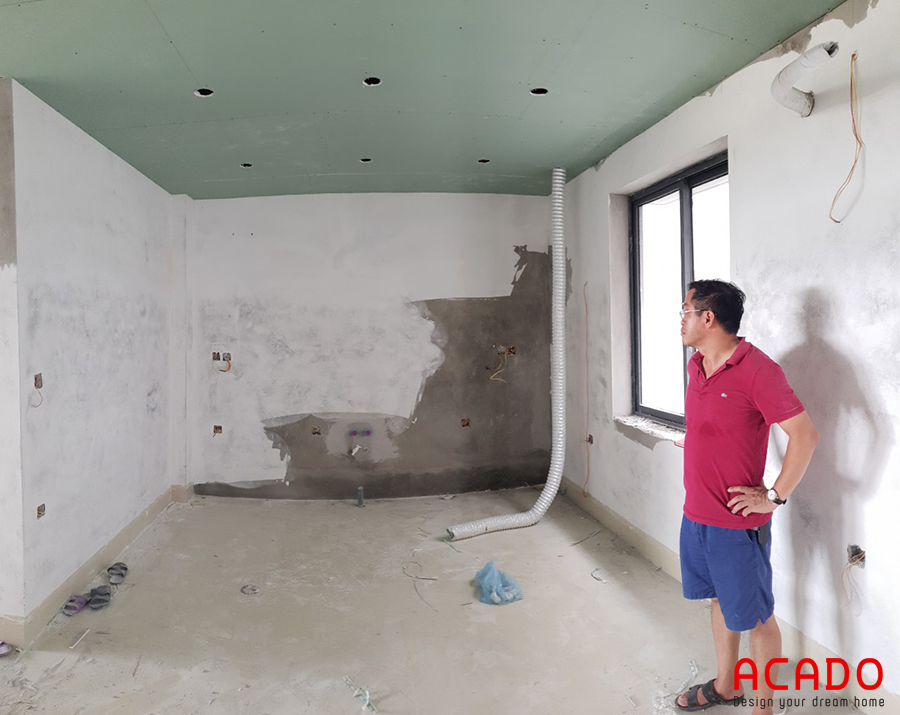 Hiện trạng trước khi đóng tủ bếp tại Lê Trọng Tấn.
