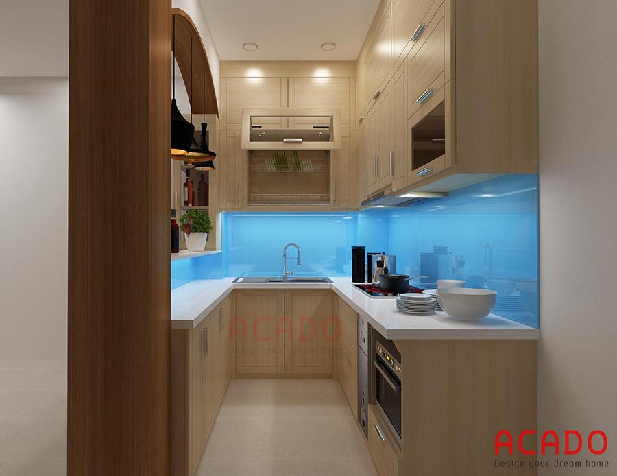 Bản vẽ thiết kế tủ bếp của một góc nhìn khác.