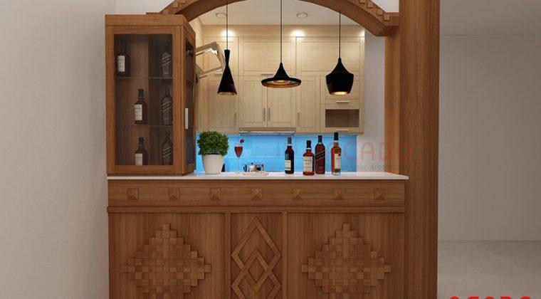Bản vẽ thiết kế chi tiết phù hợp nhất sau khi khảo sát hiện trạng căn bếp tại gia đình anh Quang.