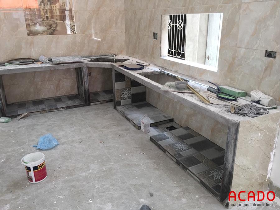 Hiện trạng trước khi thi công tủ bếp tại Gia Lâm.