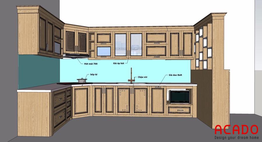 Bản vẽ thiết kế được đưa ra sau khi khảo sát và thảo luận với gia đình.