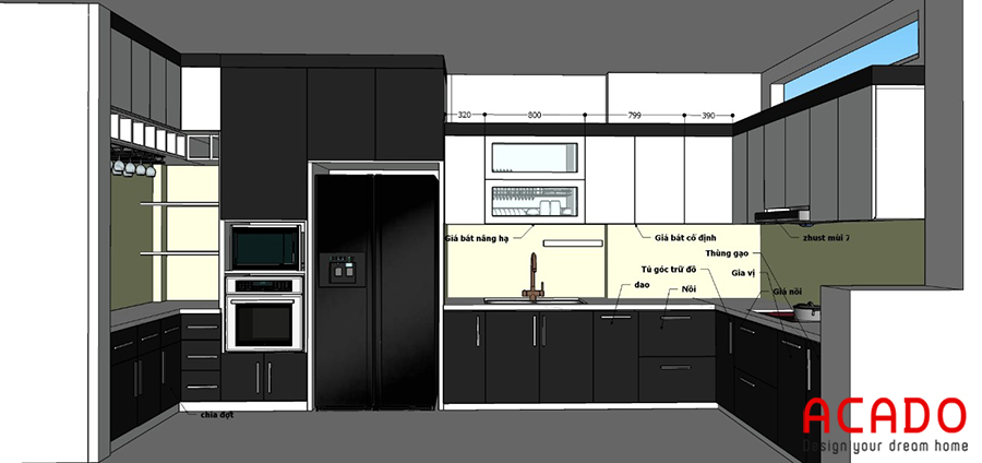 Sau khi thống nhất ý kiến với chủ nhà, ACADO đã đưa ra phương án thiết kế đẹp mắt và hợp lí nhất