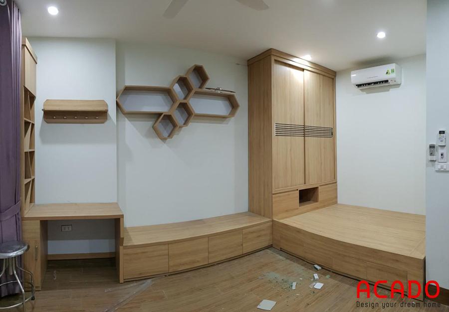Phòng ngủ mới mang phong cách phương Đông sau khi hoàn thiện.