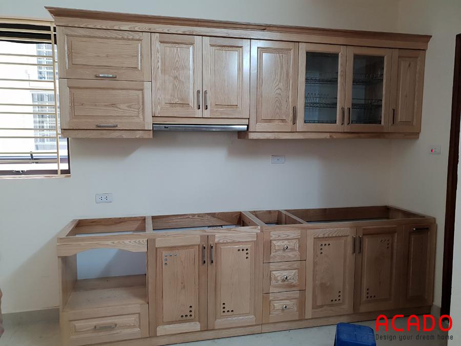 Tụ bếp được thiết kế theo hình chữ I phù hợp với không gian.