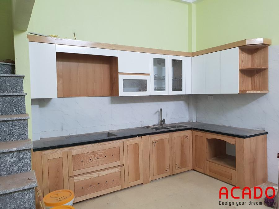 Sau khi hoàn thiện các bước thi công tủ bếp tại Lê Trọng Tấn.