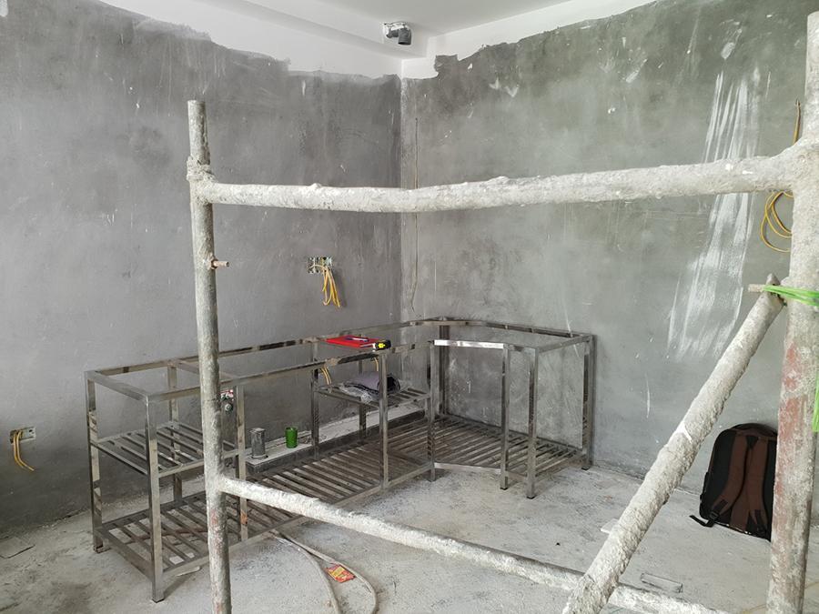 Gian bếp trước khi thi công tủ bếp tại Phú Đô.