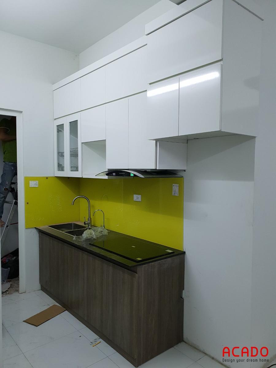 Sau khi hoàn thành thi công tủ bếp tại Thanh Hà.