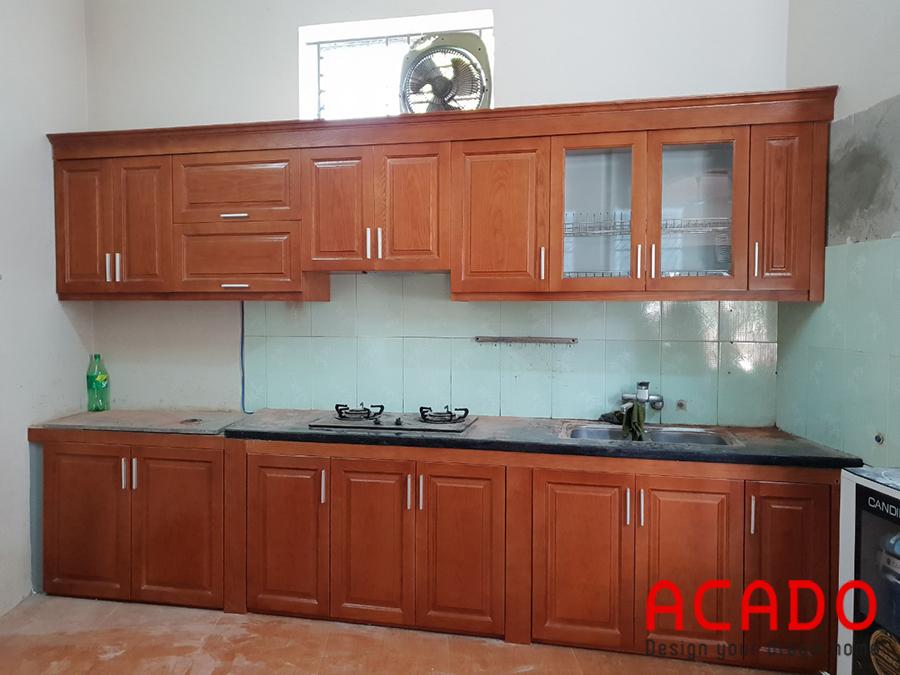Sản phẩm tủ bếp đẹp mắt sau khi hoàn thiện.