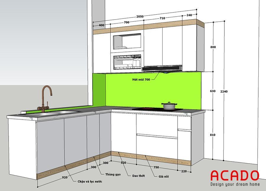 Bản vẽ thiết kế được đưa ra sau khi khảo sát hiện trạng và thảo luận với gia đình.