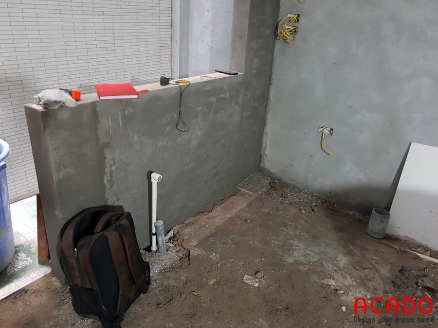 Hiện trạng trước khi thi công tủ bếp tại Trần Phú.