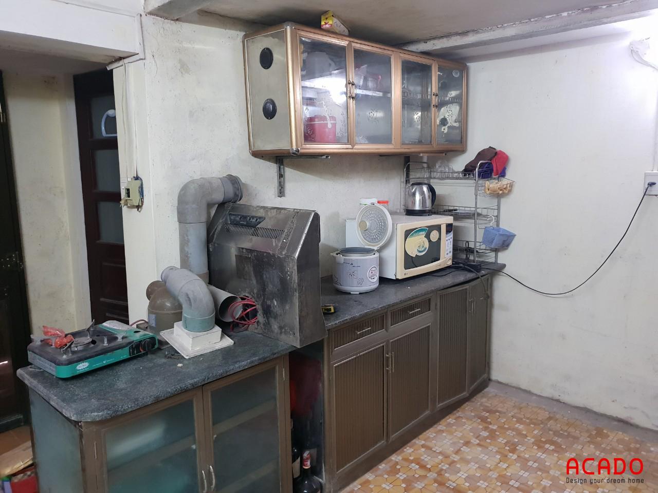 Khảo sát hiện trạng trước khi thi công tủ bếp tại Yết Kiêu.