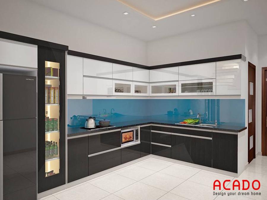 Mẫu thiết kễ mang lại nét trẻ trung cho căn bếp của bạn.