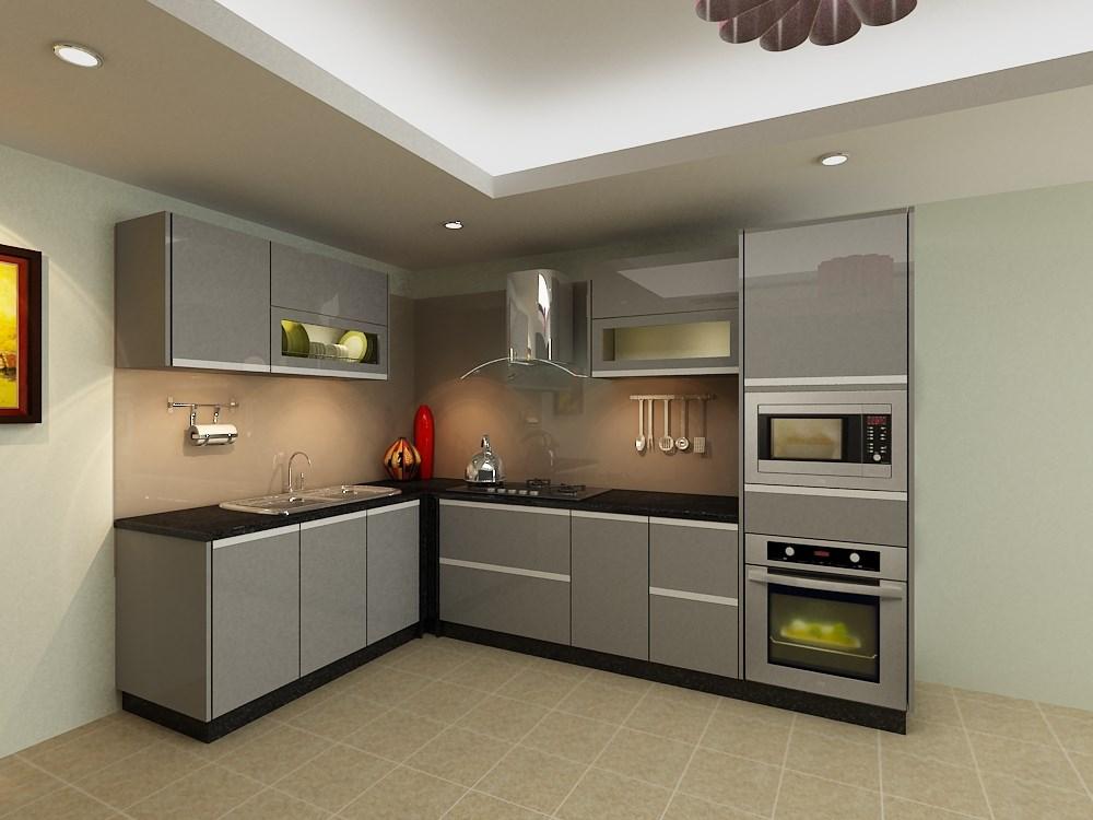 Tủ bếp với thiết kế thông minh và dễ dàng vệ sinh sau khi sử dụng.