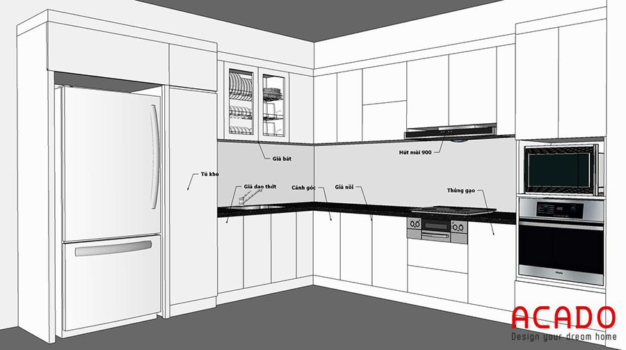 Phương án thiết kế được đưa ra sau khi khảo sát hiện trạng.