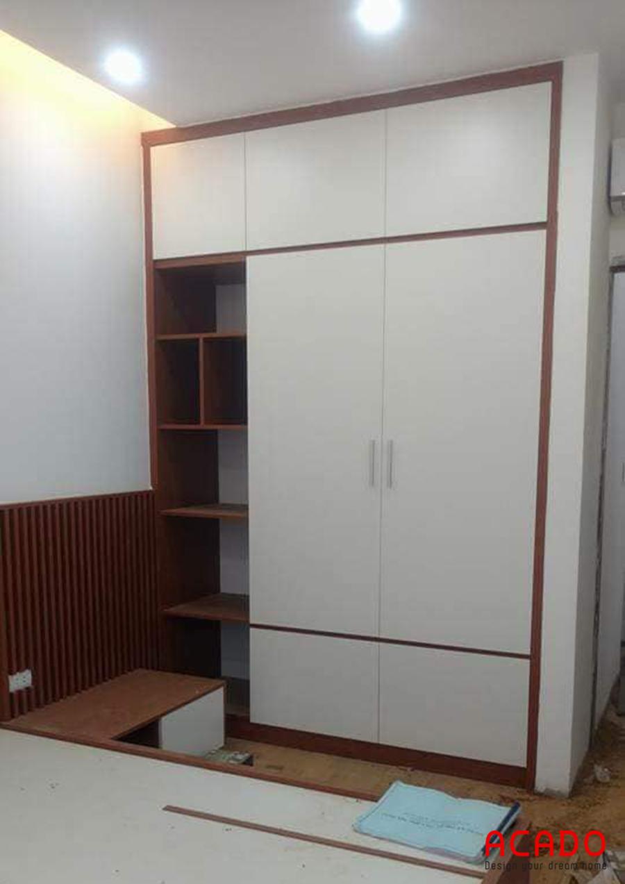 Tủ quần áo với thiết kế độc đáo.