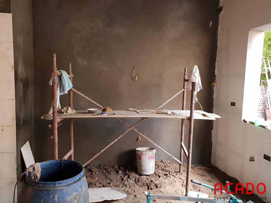 Hiện trạng trước khi thi công tủ bếp tại Thanh Trì.
