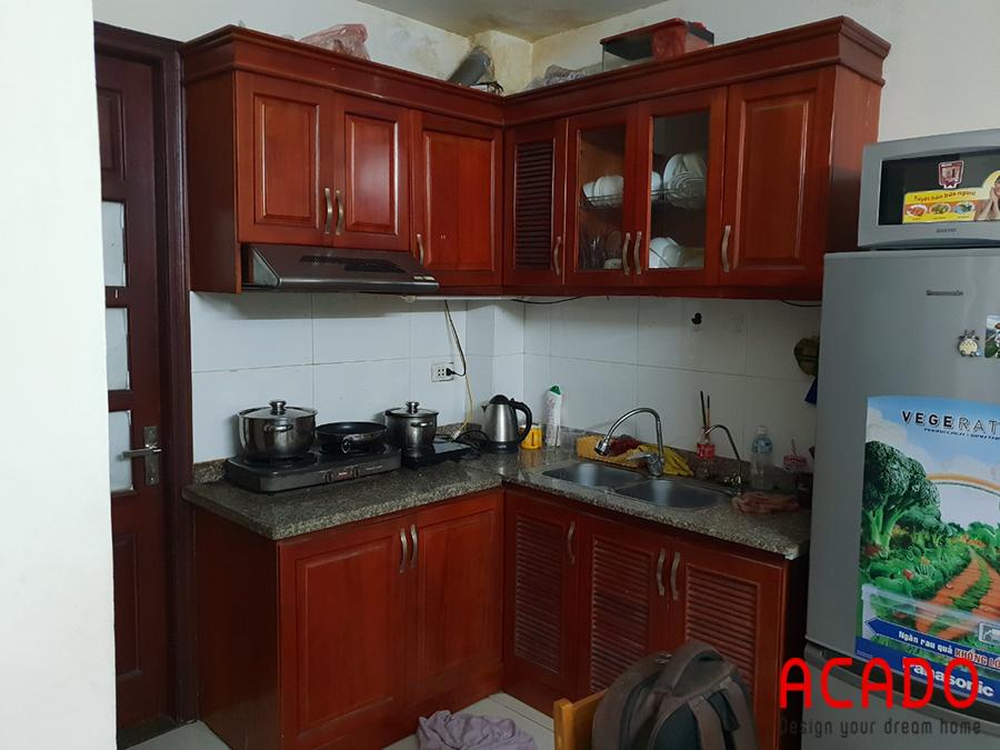 Hiện trạng của căn bếp gia đình anh Sơn trước khi thi công tủ bếp.