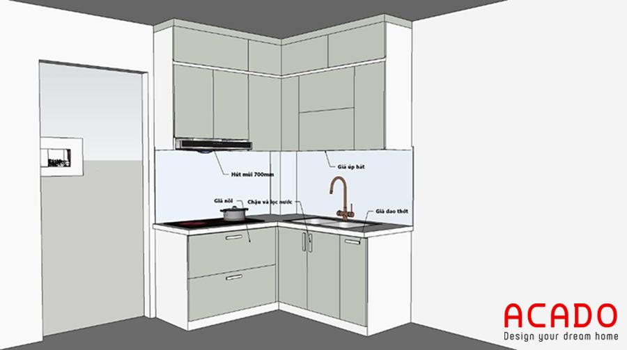 Bản vẽ thiết kế ACADO đưa ra sau khi khảo sát hiện trạng.