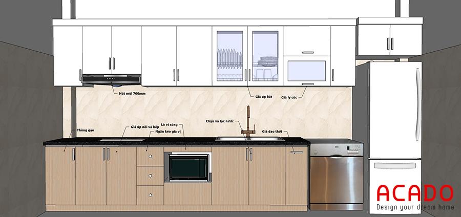 Bản vẽ thiết kế được đưa ra sau khi ACADO khảo sát hiện trạng và thảo luận với gia đình.