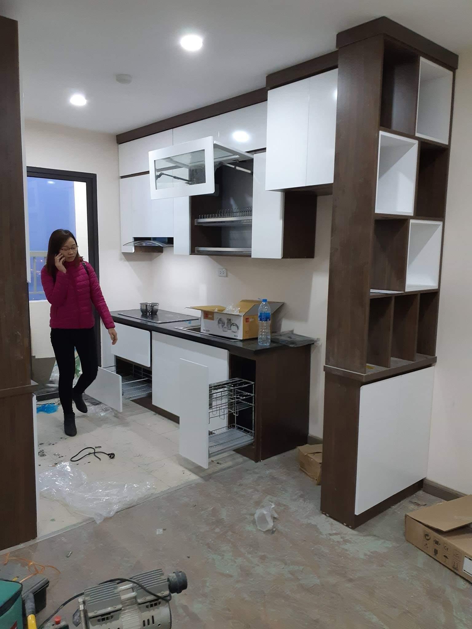 Tủ bếp Picomat Acado vừa hoàn thành thi công.