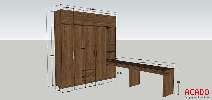 Còn đây là bản thiết kế nội thất phòng ngủ.