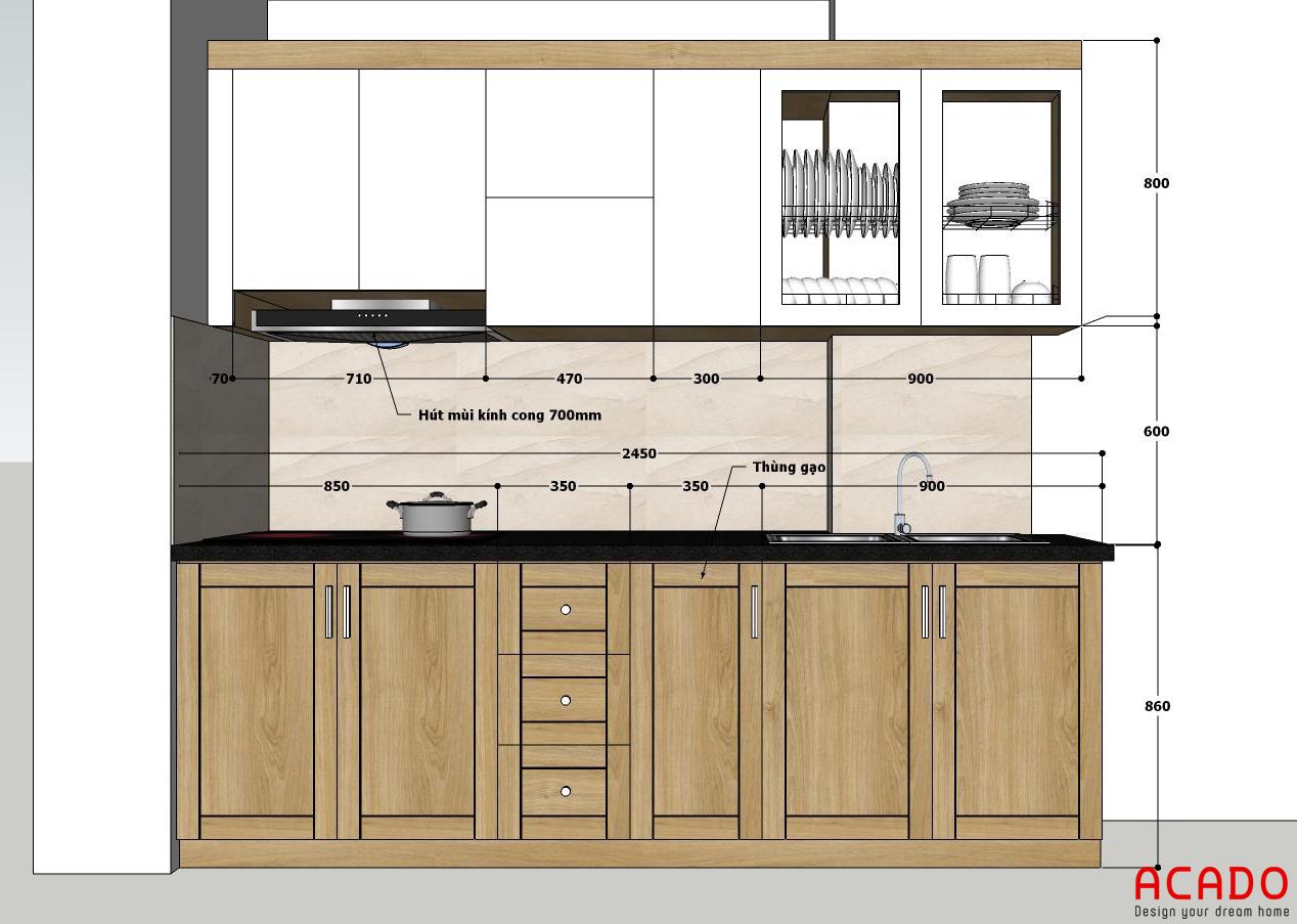 Bản vẽ thiết kế được đưa ra sau khi khảo sát hiện trạng.