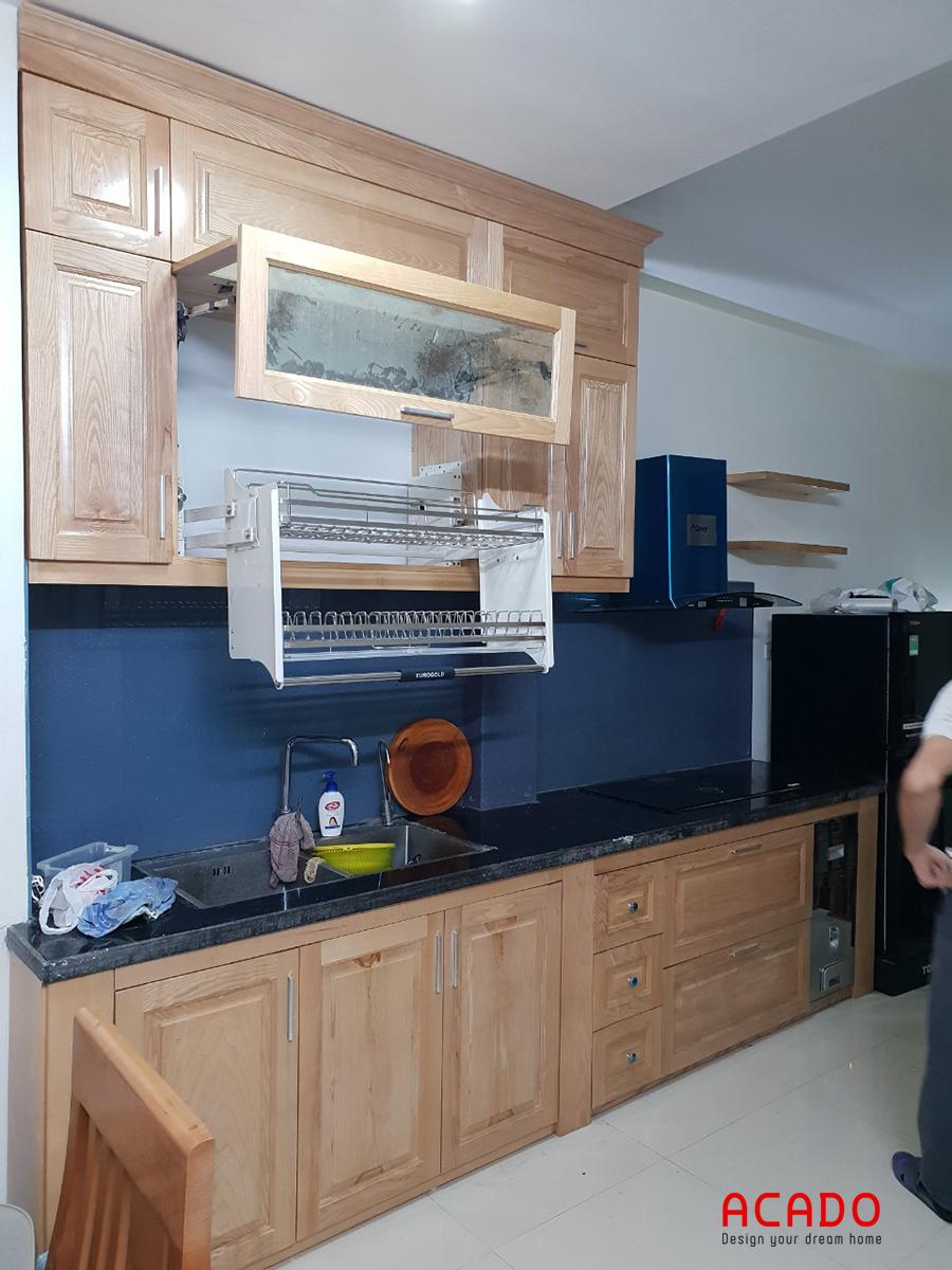 Đóng tủ bếp tại Hà Cầu- Hà Đông.