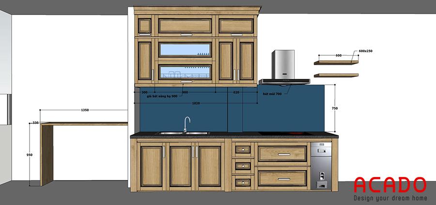 Acado lên thiết kế phù hợp cho căn bếp.