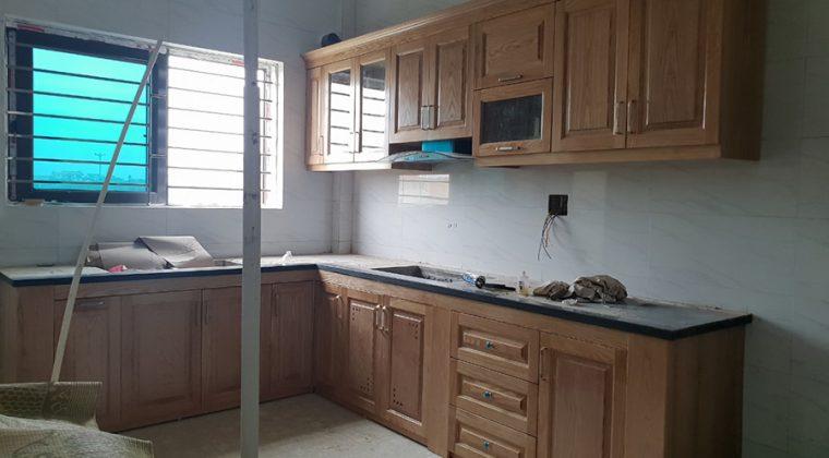 Hình ảnh tủ bếp nhà anh Cường sau khi đã hoàn thiện - tủ bếp tại Thanh Oai , Hà Nội