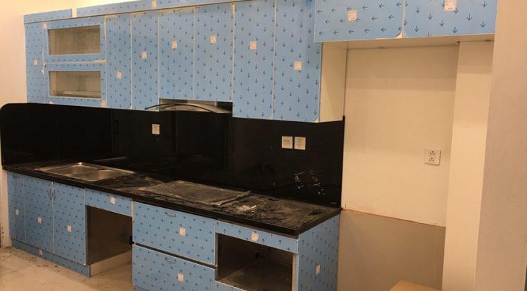 Tủ bếp inox công trình ACADO thi công thực tế cho khách hàng