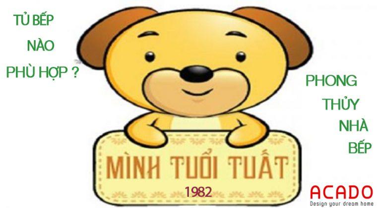 Phong thủy nhà bếp cho tuổi Nhâm Tuất- gia chủ sinh năm 1982.