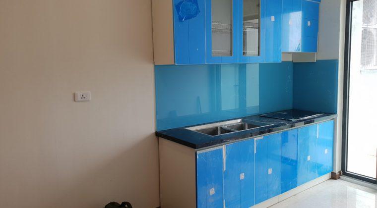 Tủ bếp của gia đình anh An sau khi đã thi công hoàn thiện.