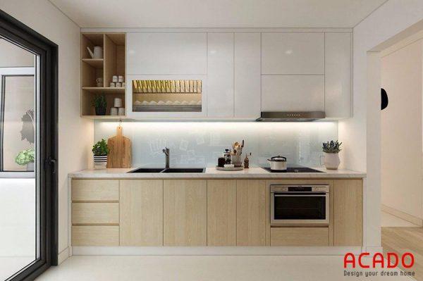 Với không gian nhà bếp hiện đại , tủ bếp Laminate rất phù hợp, mang đến vẻ đẹp trẻ trung, sang trọng