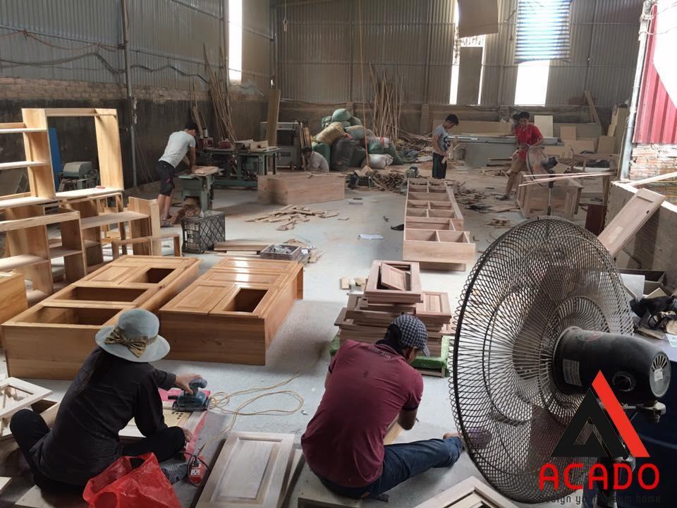 Đội ngũ nhân công của ACADO đang gấp rút hoàn thành các sản phẩm cho khách hàng của mình