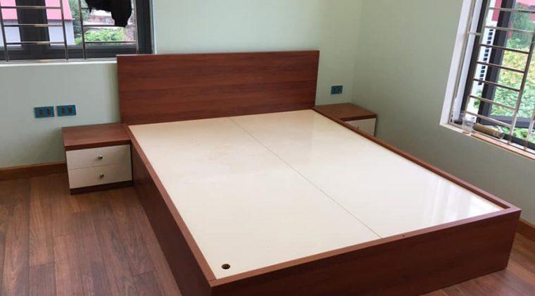 Giường ngủ gỗ công nghiệp Melamine trẻ trung, hiện đại