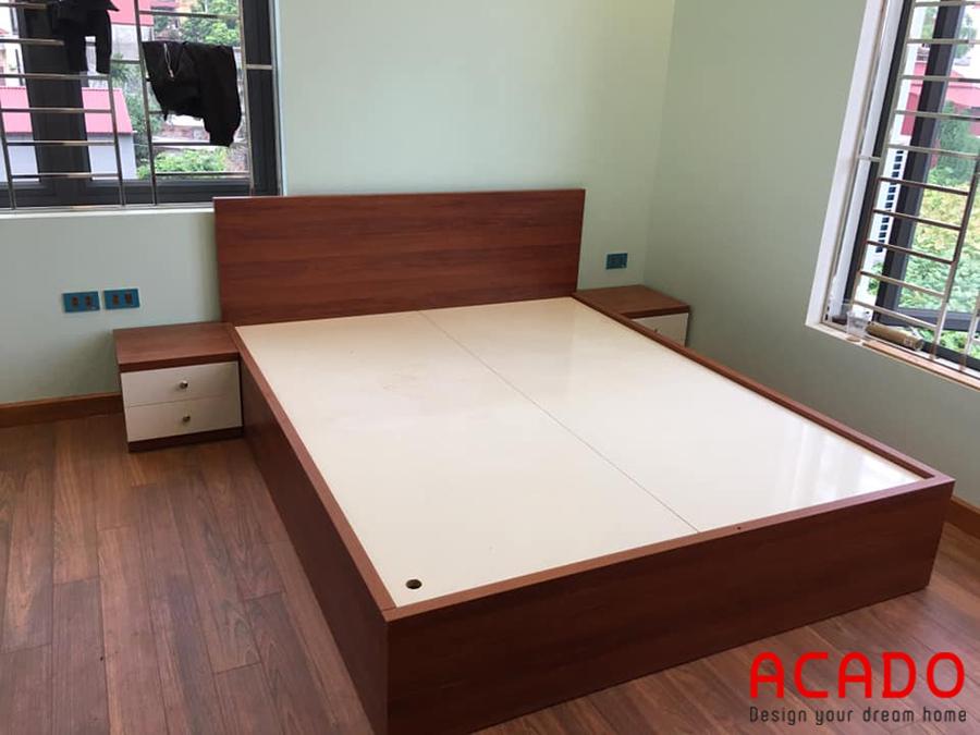 Giường ngủ gỗ công nghiệp Laminate - nội thất Acado