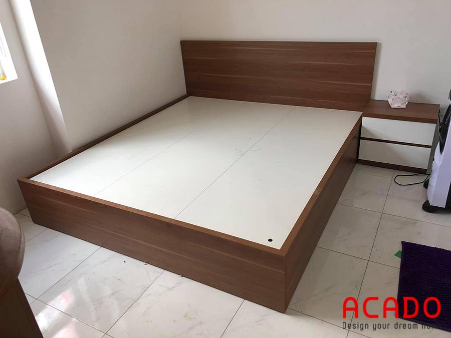 Giường ngủ gỗ công nghiệp Melamine bền, đẹp cho bạn tham khảo