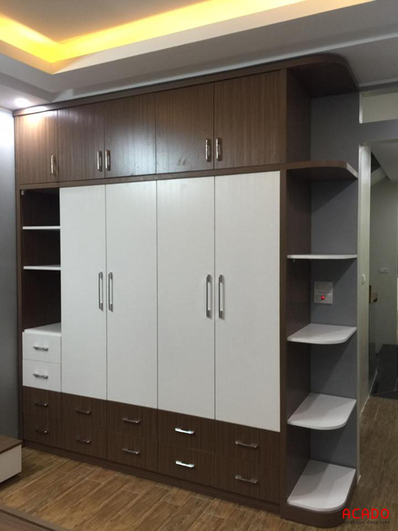 Tủ quần áo làm từ chất liệu gỗ công nghiệp Laminate cốt MDF lõi xanh chống ẩm