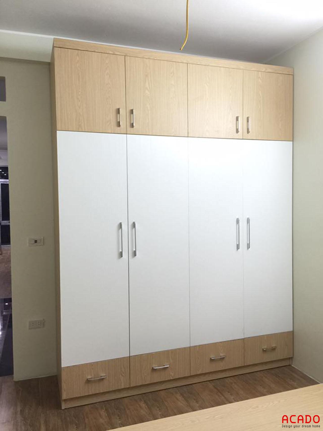 Tủ bếp gỗ công nghiệp Laminate đẹp, hiện đại cho không gian phòng ngủ