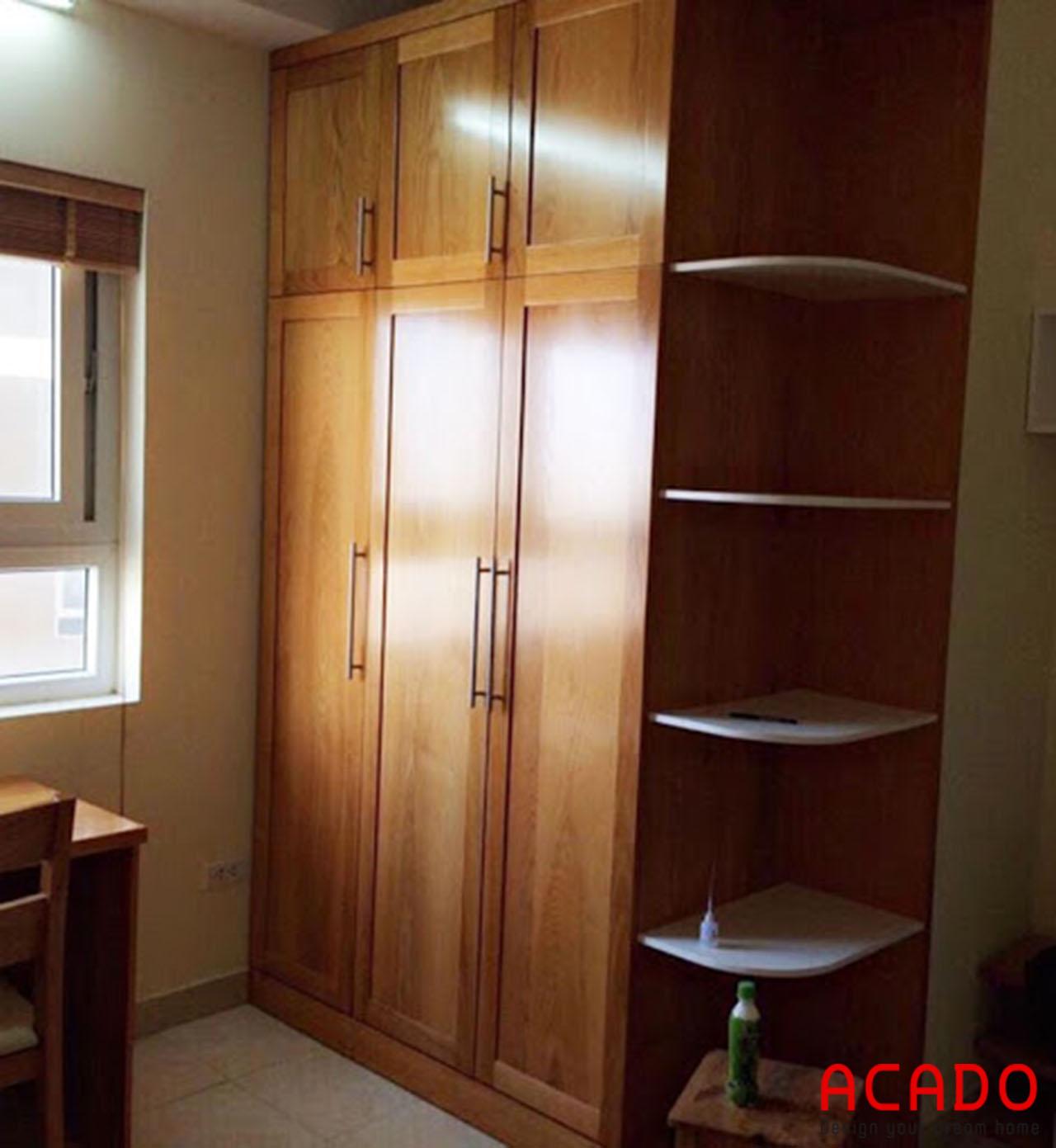 Tủ quần áo sồi Nga gỗ tự nhiên chắc chắn, bền đẹp được ưa chuộng trên thị trường