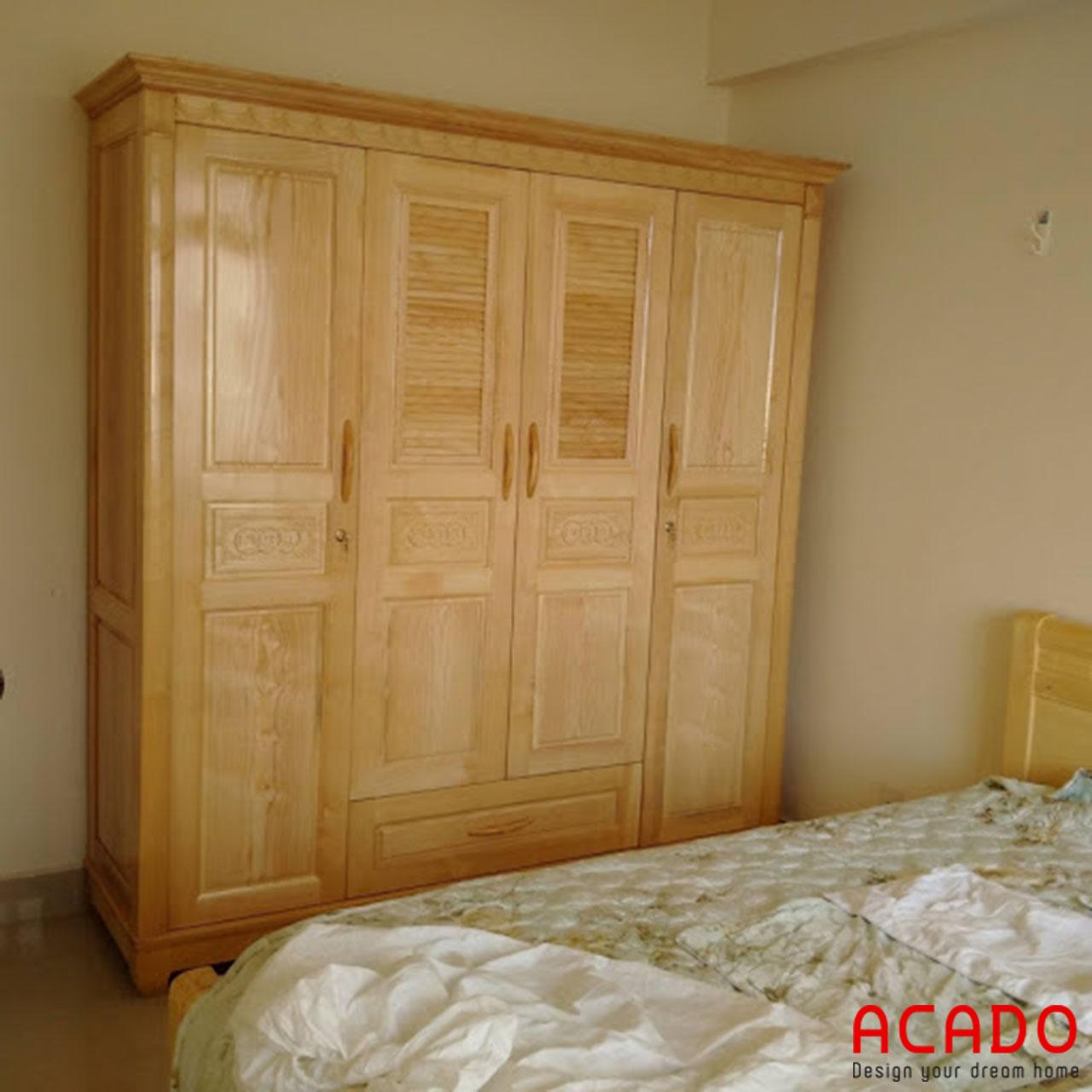 Tủ quần áo gỗ sồi Nga màu vàng nhạt cho bạn tham khảo