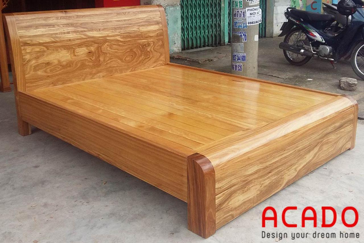 Giường ngủ gỗ hương vân cao cấp sang trọng- nội thất Acado