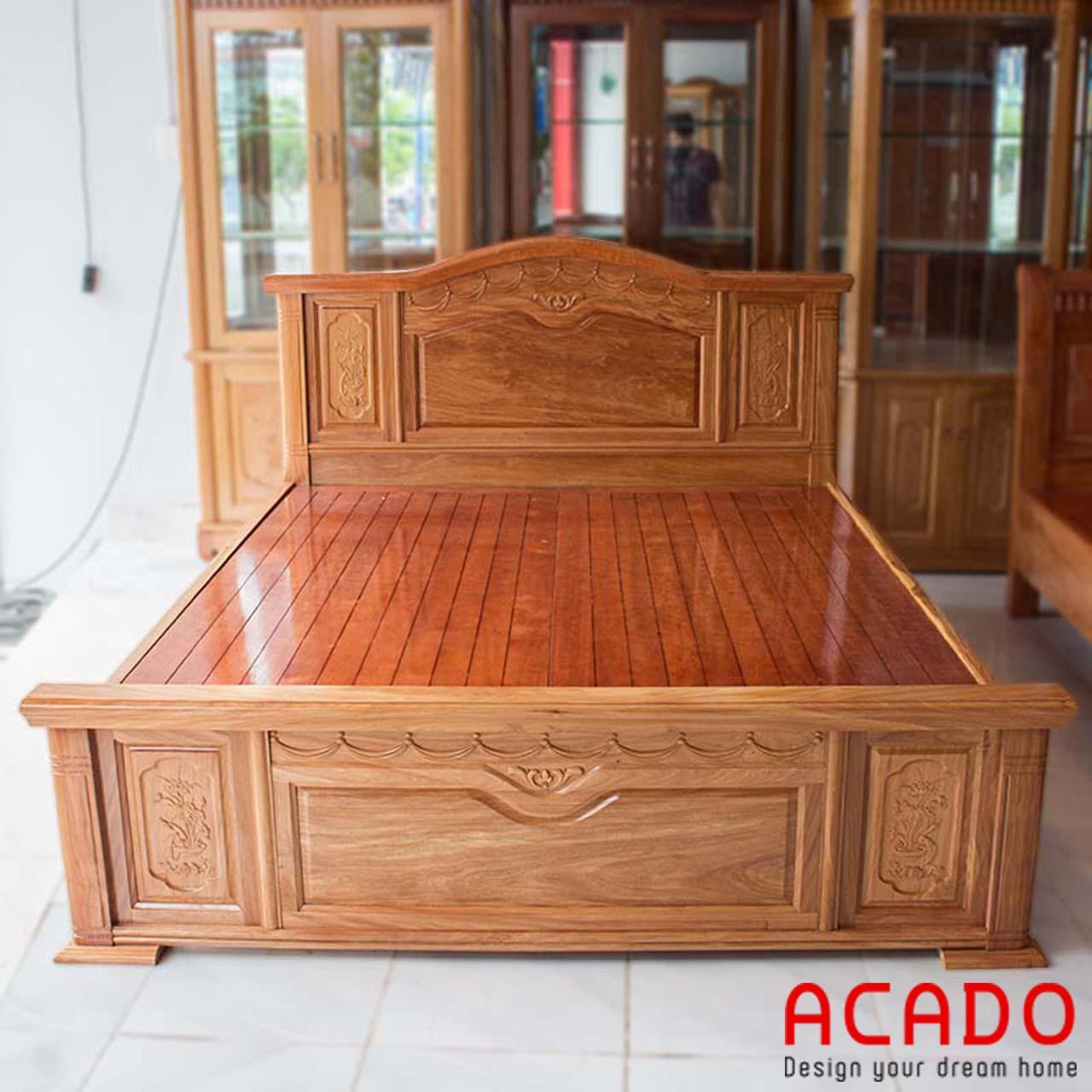 Giường ngủ gỗ hương bền bỉ với thời gian