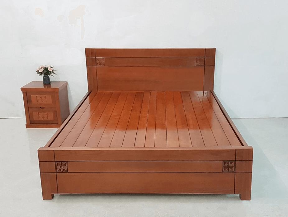 Giường ngủ gỗ gõ đỏ thể hiện đẳng cấp cho người sử dụng