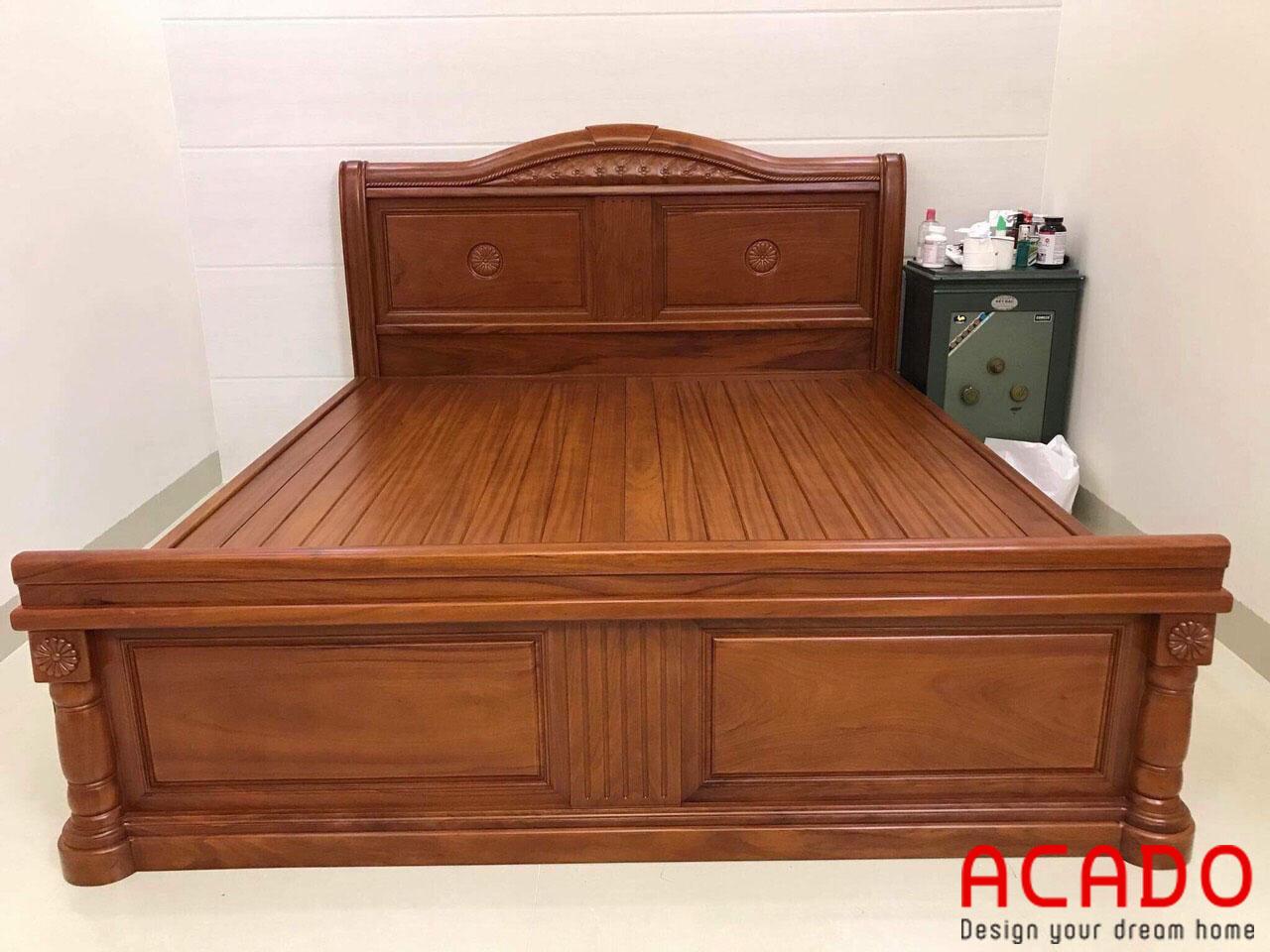 Giường ngủ được làm từ gỗ gõ đỏ - nội thất Aacdo