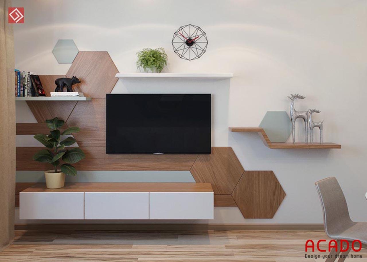 Kệ tivi đẹp , hiện đại được làm từ gỗ công nghiệp Melamine