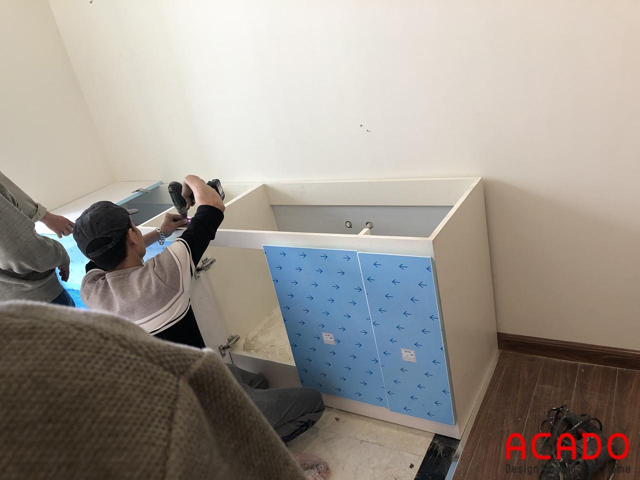 Tủ bếp chất liệu thùng tủ nhựa Picomat siêu chống nước