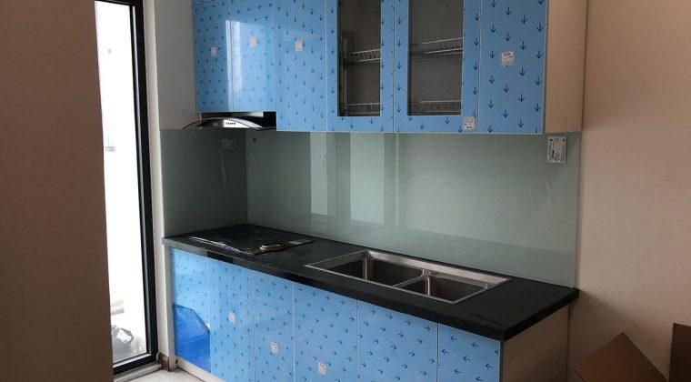 Tủ bếp thùng Picomat cánh Acrylic - công trình ACADO thi công tại gia đình chị Hải