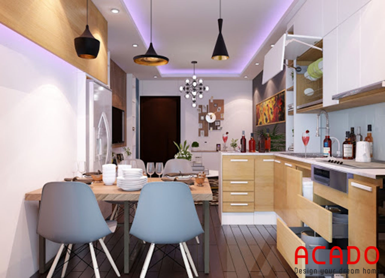 Thiết kế nội thất phòng bếp thông minh- nội thất Acado